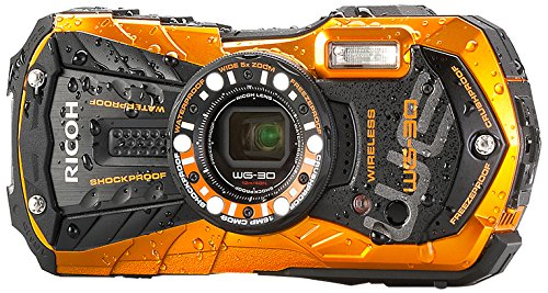 Ricoh WG-30w flame orange Digital Camera with 2.7-Inch LCD (Flame Orange) (Camera Pentax Underwater)