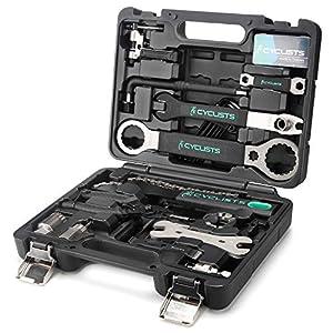CYCLISTS 自転車専用工具セット 23点セット シマノ対応 ツールボックス付き 自転車 組立て メンテナンス 修理 プロ向き(CT-K01)