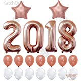 KATCHON 035 2018 Rose Gold Balloons Decorations-Huge, 40 Inch   Graduation Party Supplies