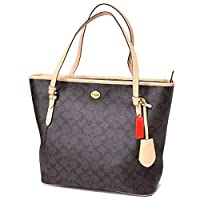 Coach Womans Peyton Zip Top Tote Brown