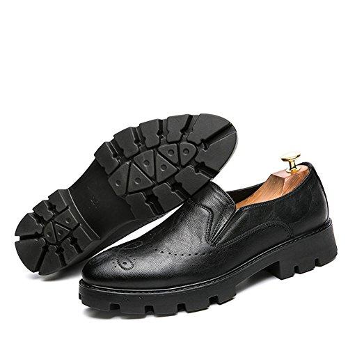 Slip Mocasines Oficina Negros Moda Zapatos on Planas Trabajo Casual Negocios Hombre Barco fxpaSq