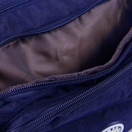 IKRR Bolsos Bandolera Bolsas de Mensajero Multi-Bolsillos Ajustable Mujer Mama (Modelo-1/Azul/24 * 8.7 * 6cm): Amazon.es: Equipaje