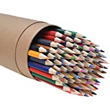 CYPER TOP 80-color Colored Pencils Set For Adults And Kids/Vibrant Colors,Drawing Pencils for Sketch, Arts, Coloring Books (Cylinder)
