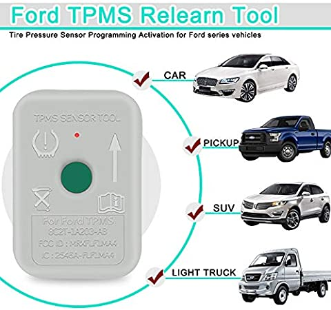 JDIAG TPMS Reset Tool for Ford Tire Pressure Monitor System Relearn TPMS19 Sensors Training Tool
