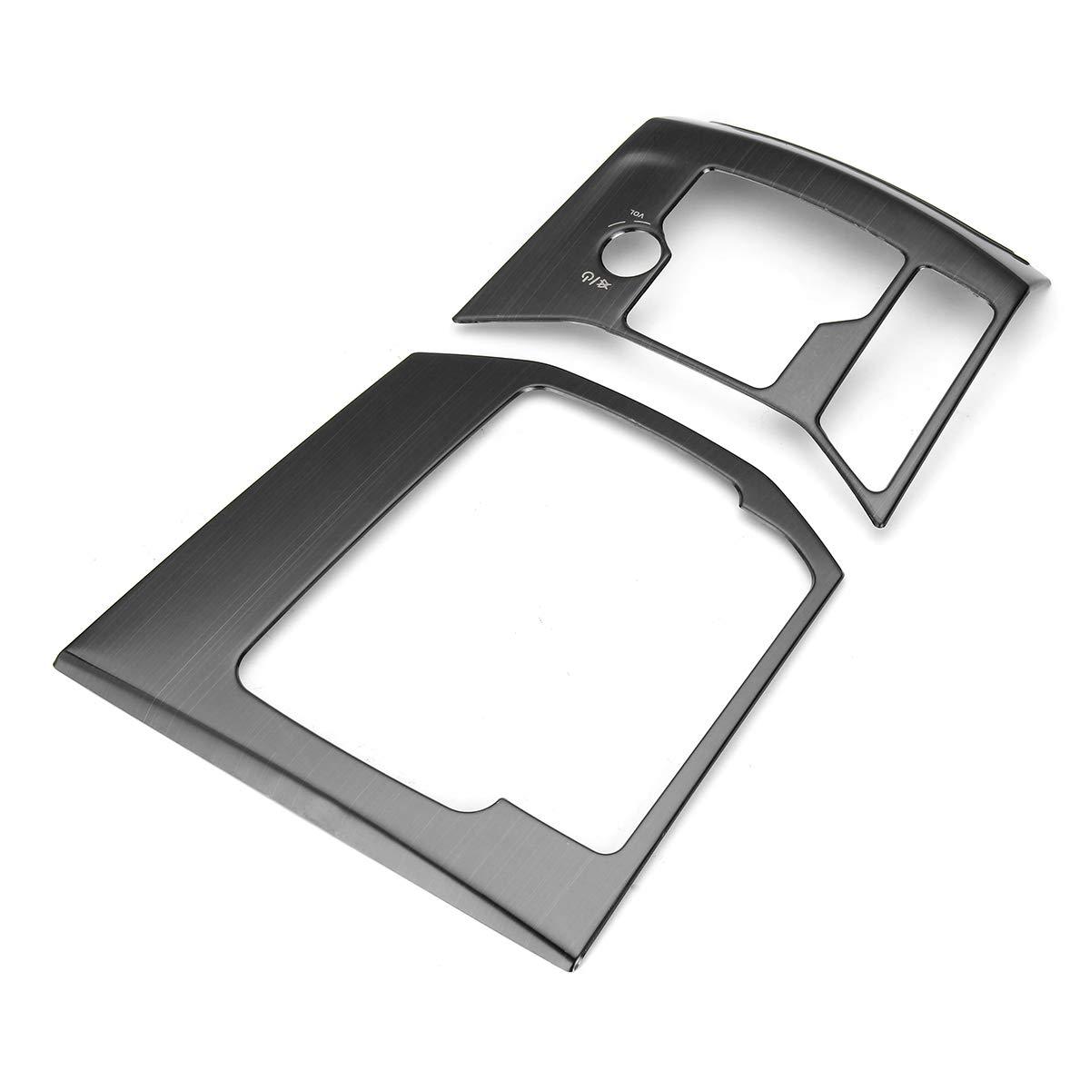 FeLiCia Auto ABS Acciaio Inossidabile Decorazione Auto Interno Cambio Telaio Pannello di Copertura per Mazda Cx-5 - Argento