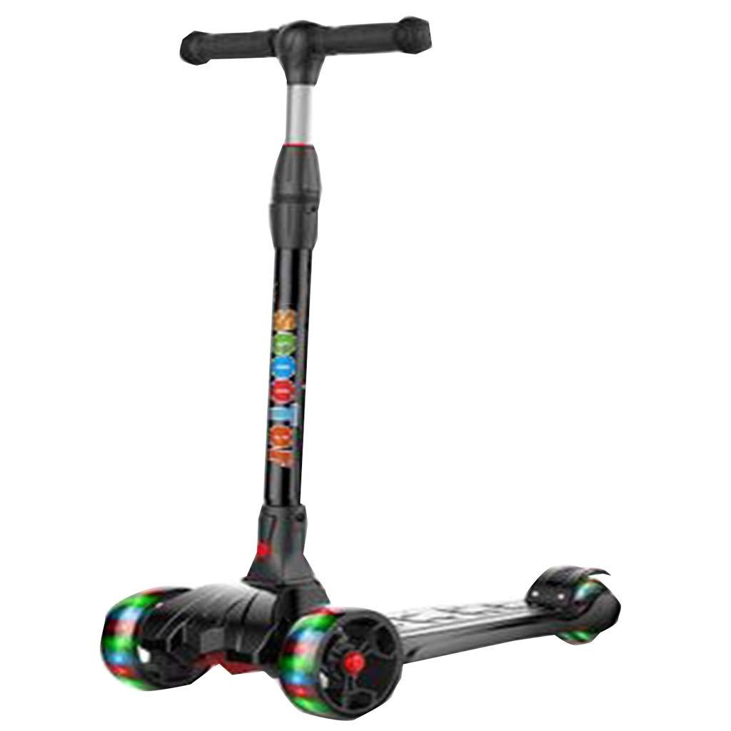 折りたたみ式パーフェクト子供向け高齢者2調整可能な高さに傾くスクーターライトアップホイール軽量の楽しみ屋外おもちゃ子供のためのフィットネス外ゲーム B07QVNPMZT D D