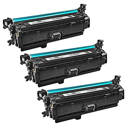 Speedy Inks - 3PK Compatible Replacement for HP 649X/HP649X/CE260X High-Yield Black Laser Toner Cartridge for use in Color LaserJet Enterprise CP4025dn, CP4025n, CP4525dn, CP4525n, CP4525xh