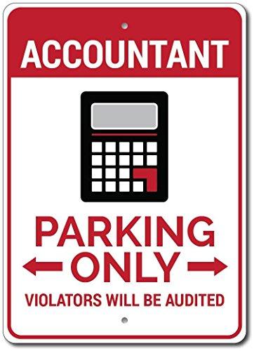 Cpa Corner - The Lizton Sign Shop Accountant Parking Sign, Accountant Sign, Accountant Gift for Accountant Decor, CPA Sign, CPA Gift, CPA Decor - Quality Aluminum - 10