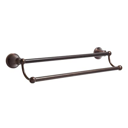 Naiture 18 Brass Wall Mounted Double Towel Bar Oil Rubbed Bronze