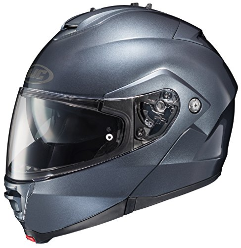 HJC IS-MAX II Modular Motorcycle Helmet (Anthracite, X-Large)