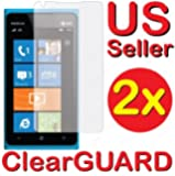 2x Nokia Lumia 900 Premium Invisible Clear LCD Screen Protector Kits (2 pieces)