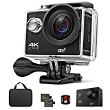Action Camera, Xtreme 16MP 4K Ultra HD WiFi Waterproof Sports Action Camera 170 Degree Wide-Angle Lens with 2Pcs Rechargeable Battery, Full Accessories Kits and Carrying Case Included