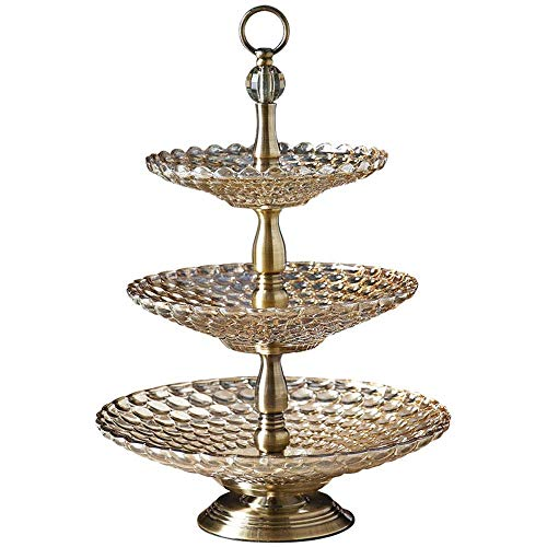 Xiao-bowl2 European Luxury 3 Layer Crystal Cake Stand Luxury Tray Nuts/Fruit/Sweets/Snack Plate Wedding Centerpieces Home European Table Pot Hotel Decoration