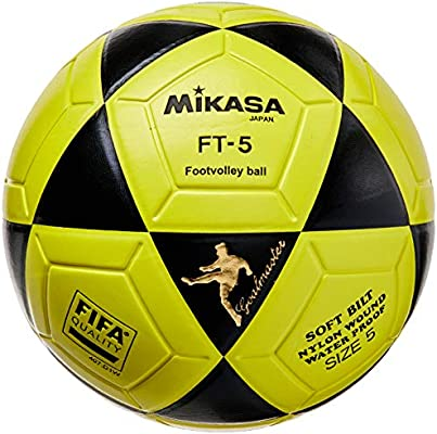 MIKASA Ball Ft-5 Bky F- Balón de fútbol, Color Negro y Amarillo ...