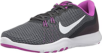 Nike Women's Flex TR 7 Training Shoe Anthracite/White/Dark Grey/Hyper Violet Size 9.5 M US