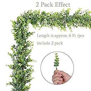 Artiflr 4 Pack Artificial Wall Hanging Plants Artificial Ivy Fake Hanging Vine Plants Decor Plastic Greenery for Home Wall Indoor Outdside 2