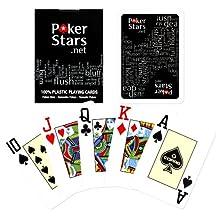 Copag Poker Stars Jumbo Index Playing Cards, Black