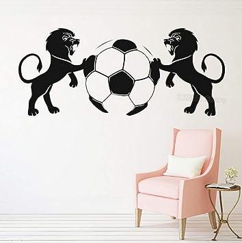 Emblema de fútbol Tatuajes de pared Dormitorio para niños Leones ...