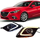 Win Power Mazda 3 Daytime Running Lights Waterproof DRL Fog Lamp Kit for 2014 2015 2016 Axela with Error-Free Canbus- 1 Year Warranty, 1 Pair