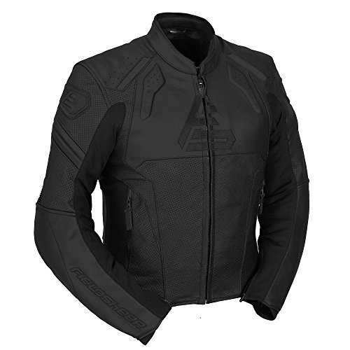 Fieldsheer Unisex-Adult Shadow Perf Leather Jacket (Black, 44)