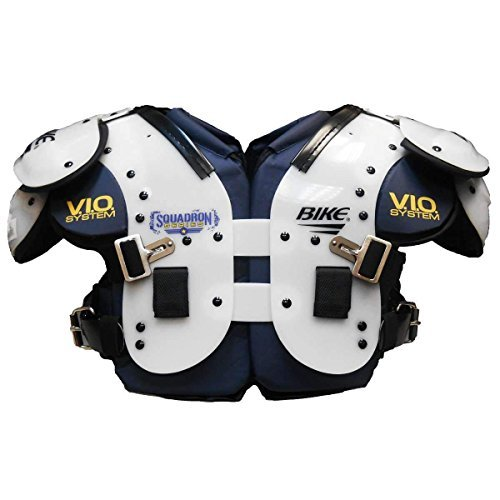 Bike Squadron Series Flat Multi-Purpose Football Shoulder Pads - White Extra Large (Shoulder Ol Pad Football)