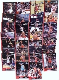 1999 Upper Deck Michael Jordan HUGE Complete 30 Card Tribute Set+Special BONUS UNC Michael Jordan Rookie Card !