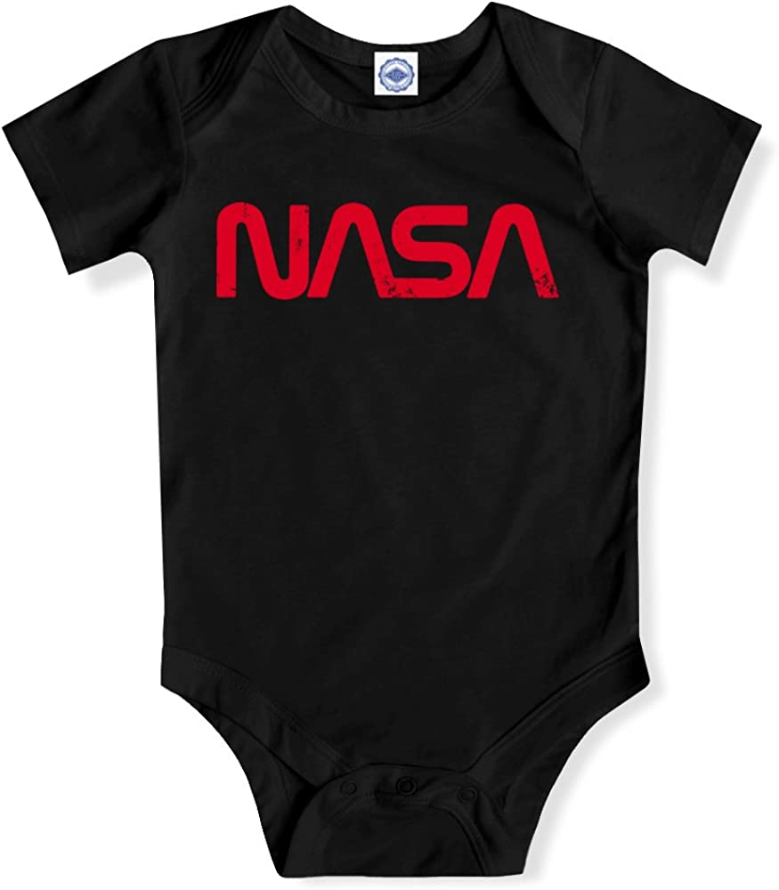 Pop Threads NASA Approved Blast Off Retro Worm Logo Infant Bodysuit