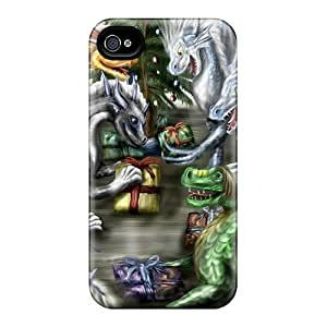 Protective Cases With Fashion Design For Iphone 6plus (a Dragon's Christmas)