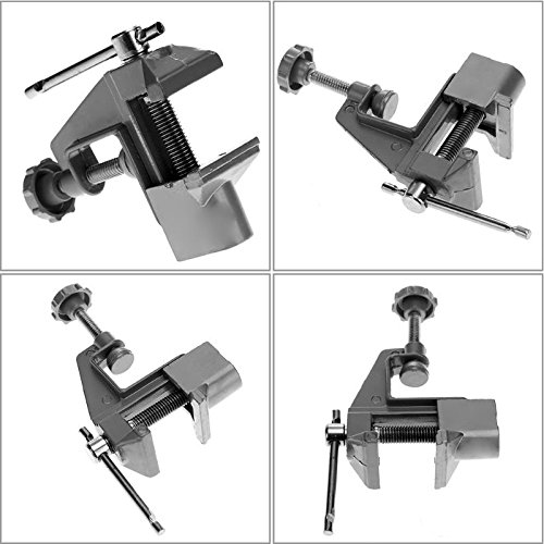 Best Garden Tools 1PC Professional Table Bench Mini Vise Aluminum Jewelers Hobby Clamp On Table Bench Vise Mini Tool Vice DIY Tools