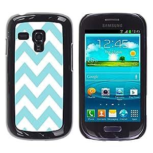 - Chevron Pattern V shapes - - Monedero pared Design Premium cuero del tirš®n magnšŠtico delgado del caso de la cubierta pata de ca FOR Samsung Galaxy S3 Mini I8190 Funny House