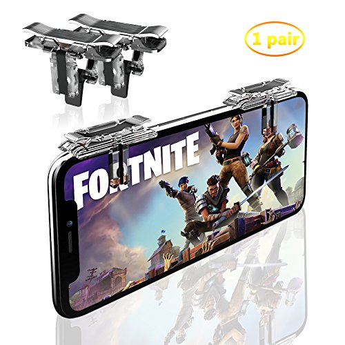 Price comparison product image Fortnite PUBG Mobile Game Controller-Sensitive Shoot,  Transparent Aim Keys L1R1 Shooter Joysticks Aim Buttons & Cell Phone Game Controller for Android IOS (1 Pair)