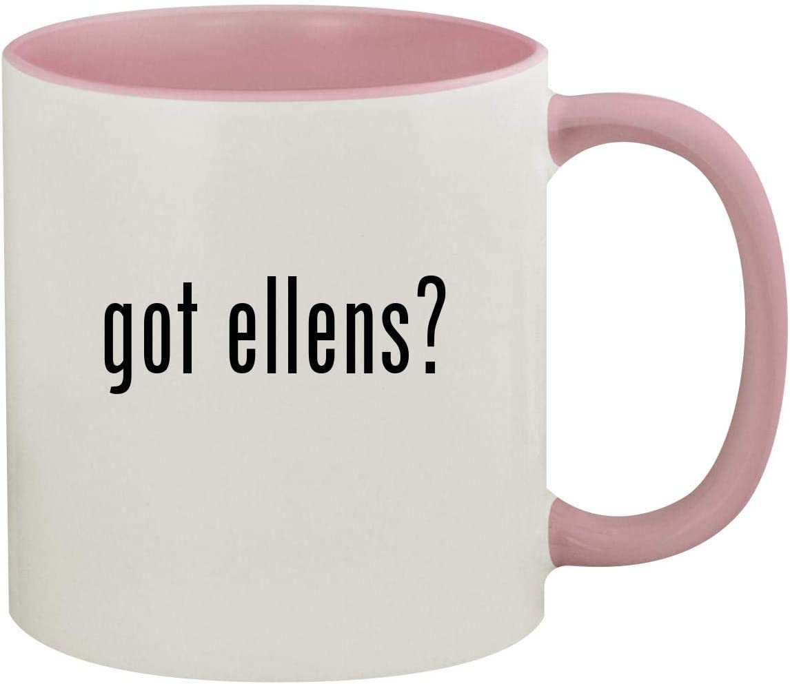 got ellens? - 11oz Ceramic Colored Inside & Handle Coffee Mug, Pink