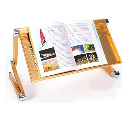 GFL Laptop Desk Dormitory Folding Lounge Table Aluminum Tables Simple Bed Computer Desks Computer Tables (Color : Gold) by GFL