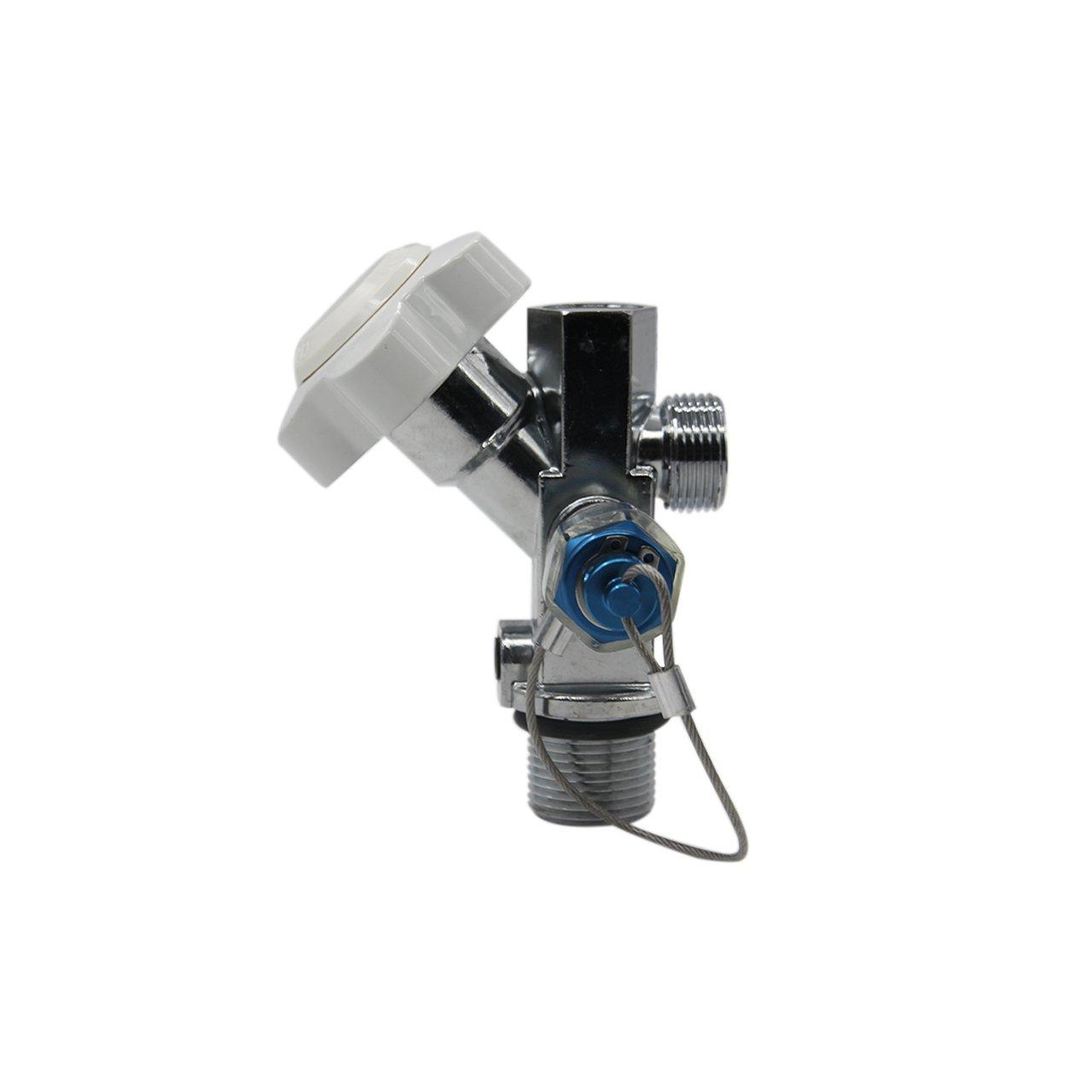 Dracary Nitrous Oxide Systems SUPER Hi-Flo Bottle Valve Work For NOS 16139 (White)