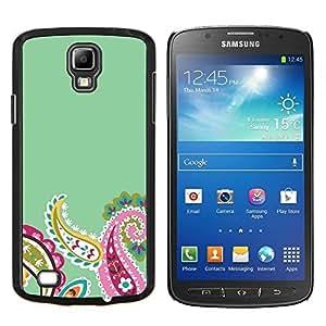 Stuss Case / Funda Carcasa protectora - Diseño floral verde rosado del resorte - Samsung Galaxy S4 Active i9295