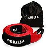 Gorilla Straps Heavy Duty Recovery Tow Strap - 3'' x 20ft 30,000lb strength with reinforced loops built for off-roading, mud, snow and other emergency towing