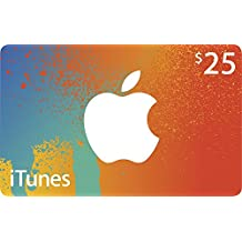 $25CAD/ CANADIAN Apple iTunes Gift Card Certificate - iTune CANADA, not US.