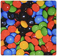 3dRose LLC 8 x 8 x 0.25 Inches Mouse Pad, M and M Candies in a Bowl (mp_64866_1)