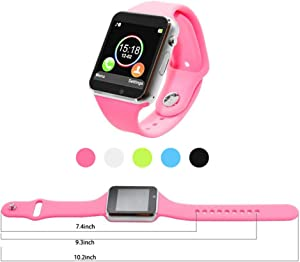 Smart Watch for Android Phones, Touchscreen Bluetooth Smartwatch with Camera Unlocked Smart Watch with Sim Card Slot Compatible for Smartphones Samsung Men Women Kids