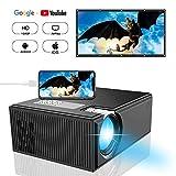 Projector, DIWUER Portable Video Projectors, Mini Movie Projector 1080P Full HD for Home Cinema Theater, Support HDMI, VGA, AV, USB, SD Card