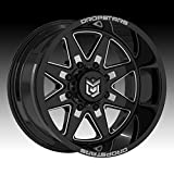 Dropstars 655BM 20x12 5x139.7/5x150 -44mm Black/Milled Wheel Rim