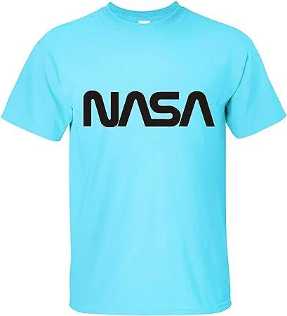 NASA Worm Camiseta NASA Space Program Logo Camiseta para Hombre Manga Corta 100% Camiseta de Algodón,Blueblack,XS: Amazon.es: Hogar