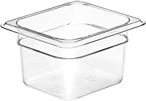 "Cambro 64CW135 Camwear Food Pan plastic 1/6-size 4""D clear - Case of 6"