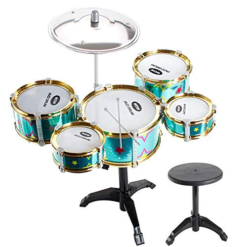 FOONEE Jazz Drum Children's Musical Instrument, Simulation Jazz Drums Musical Instrument Toy Early Educational Toy Drums Percussion