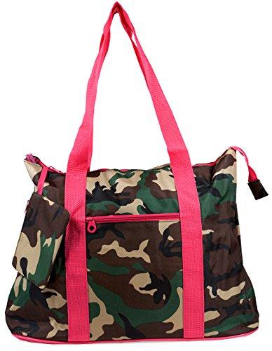 Camo Canvas Tote Bag (Ever Moda Camo Tote Bag X-Large)