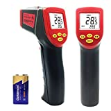 Infrared Thermometer, Temperature Gun, MONOLED Non-Contact Digital Laser Thermometer for Household Use Or Industrial Measurements (Black&Red)