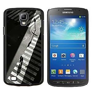 EJOOY---Cubierta de la caja de protección para la piel dura ** Samsung Galaxy S4 Active i9295 ** --Crosswalk Nyc semáforos Gris