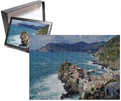 Photo Jigsaw Puzzle of Clifftop village of Vernazza, Cinque Terre, UNESCO World Heritage Site - Clifftop Village