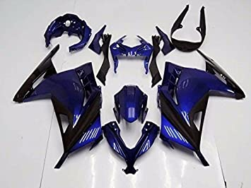 Amazon.com: Black Dark Blue Complete Fairing Bodywork ...