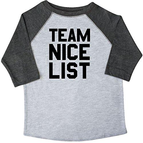 inktastic Team Nice List Toddler T-Shirt 4T 3/4 Sleeve Heather Smoke 2de2e